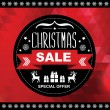 Stock Vector: Christmas Poster Sale