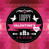 день святого валентина плакат — Cтоковый вектор