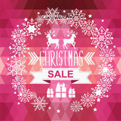Christmas Poster Sale — Stock Vector