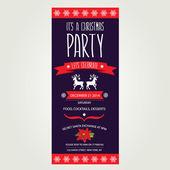Invitation Merry Christmas. — Stock Vector