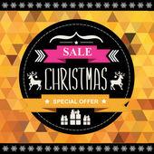Christmas Poster Sale. — Stock Vector
