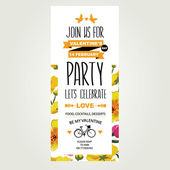 Invitation Valentine's Day. — Vector de stock