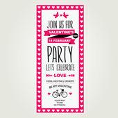 Invitation Valentine's Day. — Vettoriale Stock