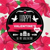 Cartel del día de san valentín — Vector de stock