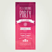 Invitation Merry Christmas. — Vector de stock
