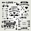 Valentine's Day set of symbols. — Stock Vector
