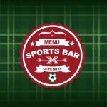 Sports bar menu, template design. — Stock Vector #39851179