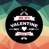 Valentine's Day poster. — Vetorial Stock
