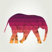 Cartoon elephant. — Stock Vector
