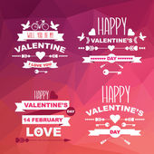 Aftelkalender voor valentijnsdag set symbolen. — Stockvector
