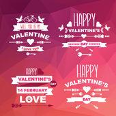 Valentino set di simboli. — Wektor stockowy
