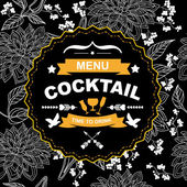Cocktail bar menu, template design. — Stockvector