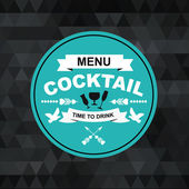 Cocktail bar menu, template design. — Stock Vector