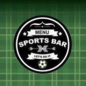 Sports bar menu, template design. — Stockvector
