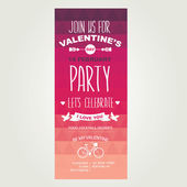 Invitation Valentine's Day — Stock Vector