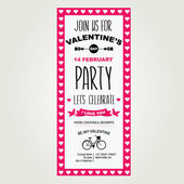 Invitation Valentine's Day — Stock Vector