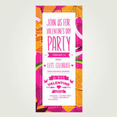Invitation Valentine's Day — Vector de stock