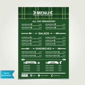 Cafe menu, template design. — Stock Vector