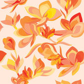 Floral pattern with beautiful flowers — Stock Vector