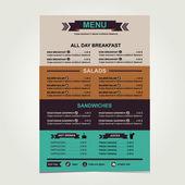 Café im menü template-design — Stockvektor