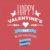 Valentine's Day poster. — Stock vektor