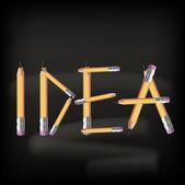 Idea concept. Vector illustration. — Vettoriale Stock