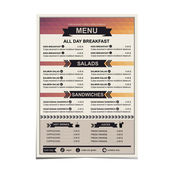 Restaurant menu, template design — Stockvektor