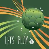 Juego de mundial de fútbol de cartel. diseño concepto brasil — Vector de stock