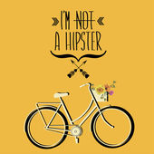 Hipster bicycle — Stock Vector
