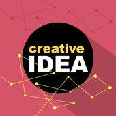 Myšlenka, koncept kreativní pozadí. vektorové ilustrace. — Stock vektor