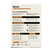 Cafe menu, restaurant template design. — Wektor stockowy
