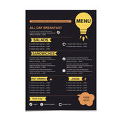 Cafe menu, restaurant template design. — Stock Vector