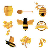 Set Honey badges and labels — Stock Vector