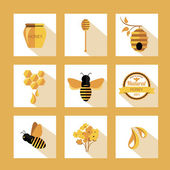 Set Honey badges and labels — ストックベクタ
