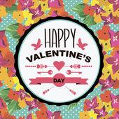 Valentine's Day poster.Typography. — Stock vektor