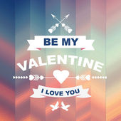 Valentine's Day poster. — Vettoriale Stock