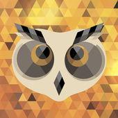 Creative owl. Vector illustration. — 图库矢量图片