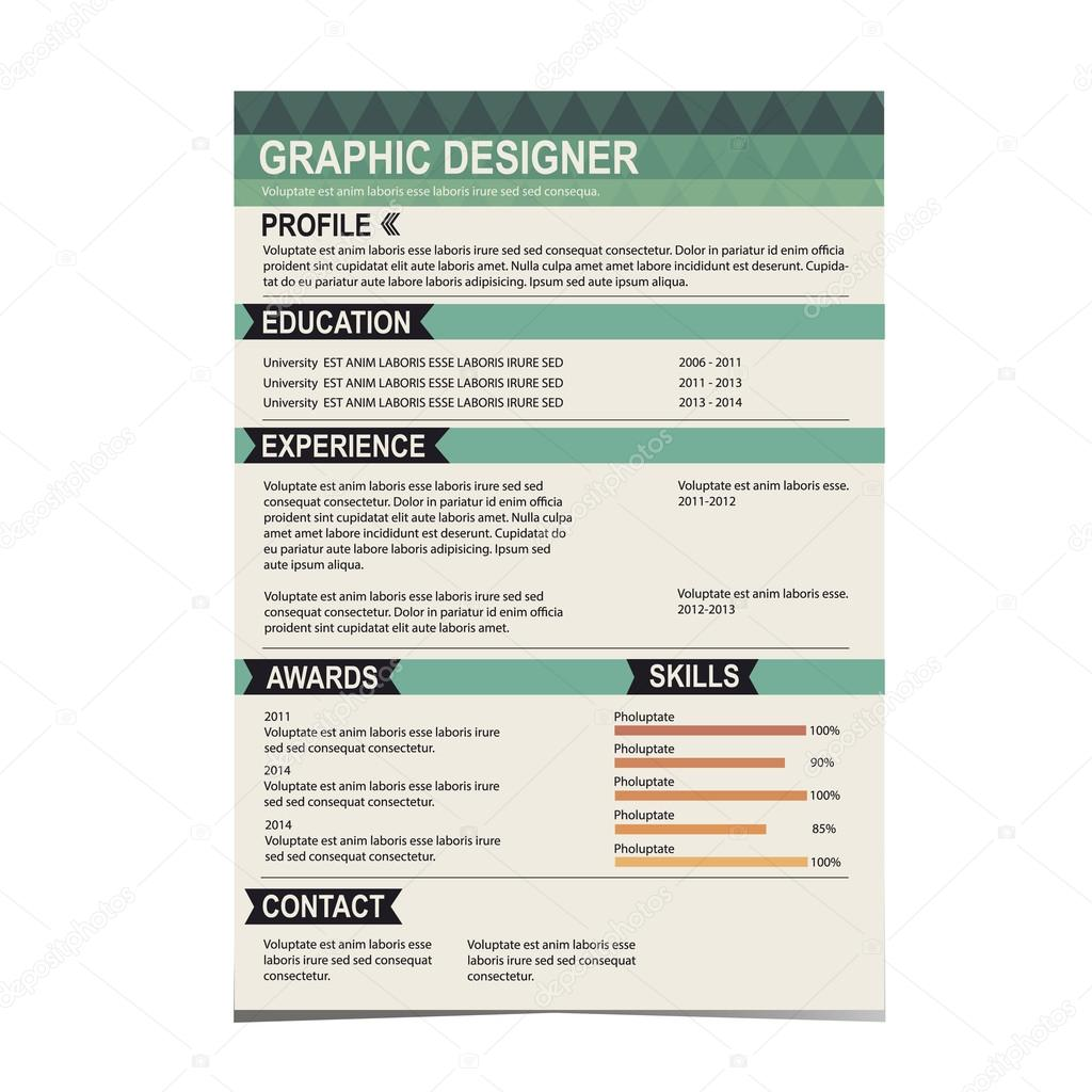 resume template cv creative background stock vector