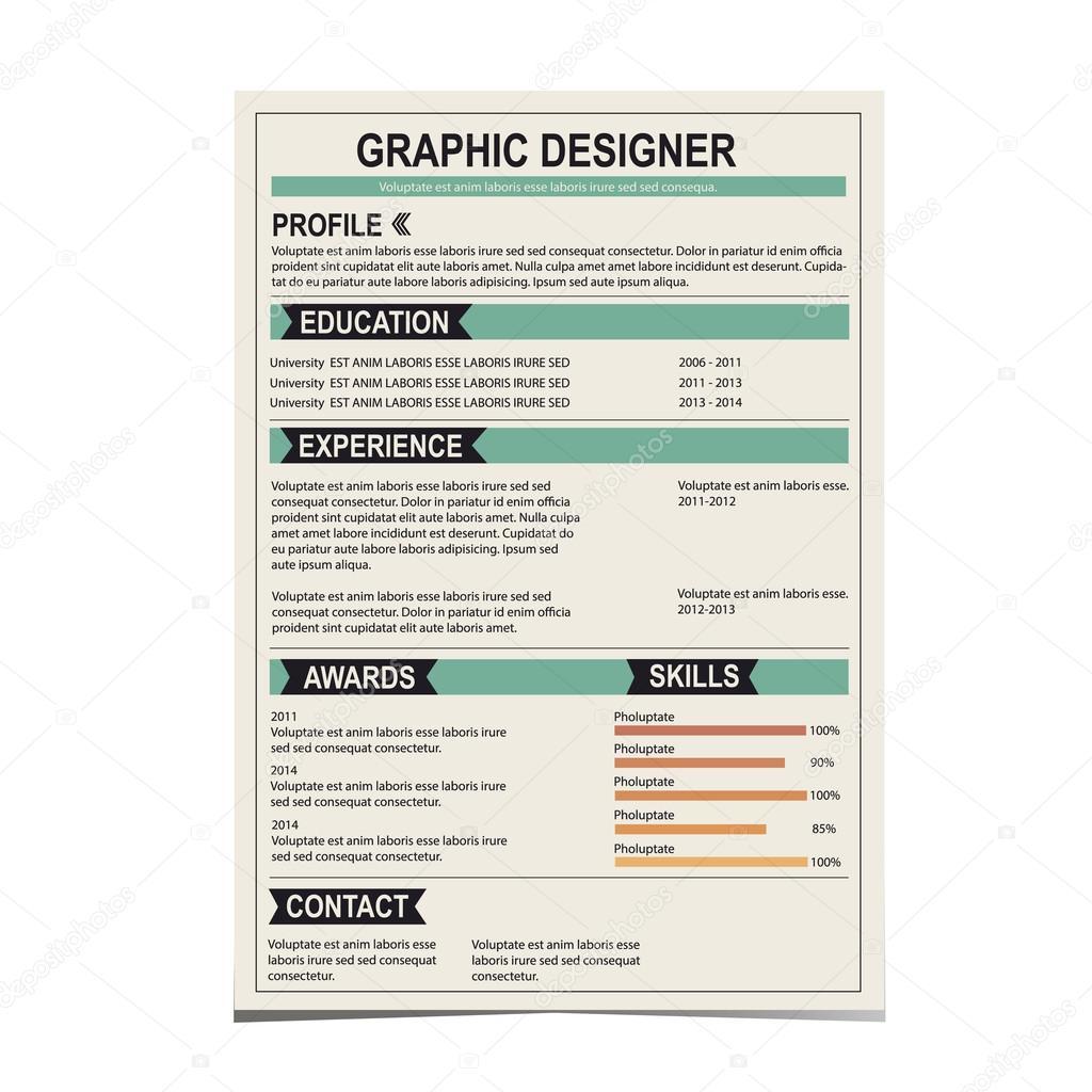 Resume template. Cv creative background. Vector illustration ...