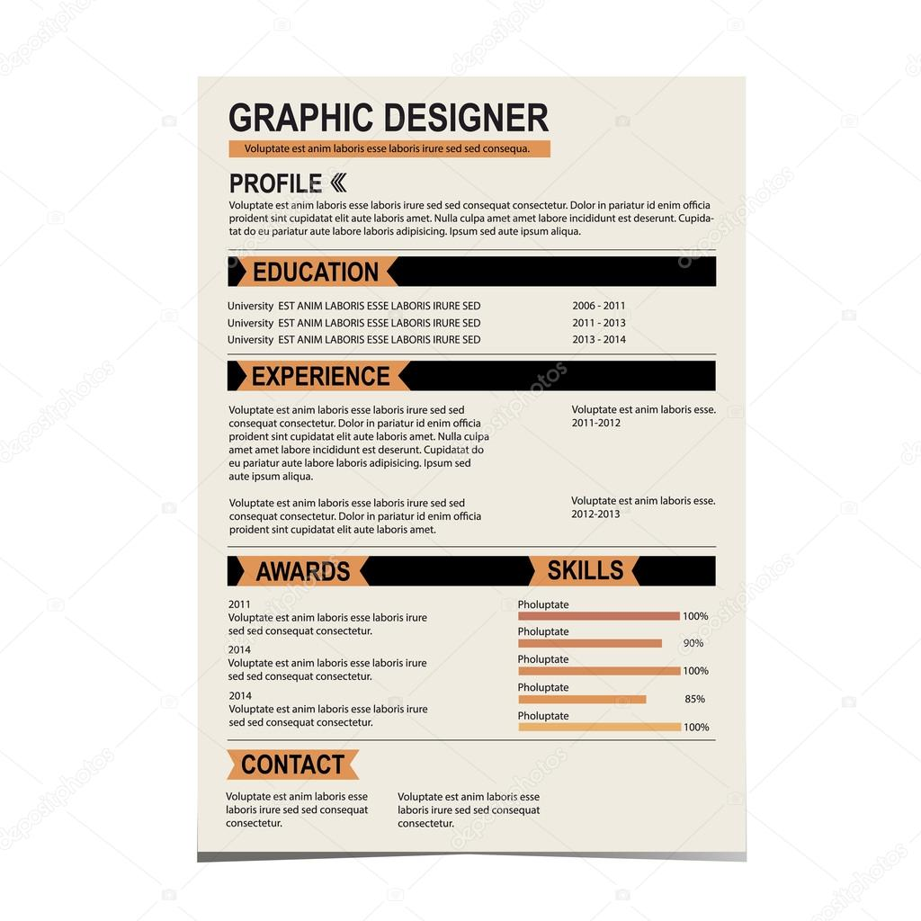 resume template cv creative background stock vector copy i resume template cv creative background vector illustration vector by i
