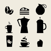 Coffee icon menu. — Stockvektor