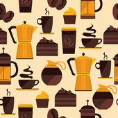 Seamless pattern di caffè. — Vettoriale Stock