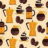 Kahve seamless modeli. — Stok Vektör