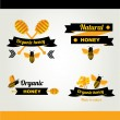 Honey badges and labels — Stock Vector