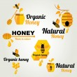 Honey badges and labels — Stock Vector #44082613