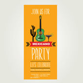Invitation to Mexican party — Stock Vector