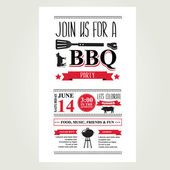 Barbecue party invitation. — Stock Vector
