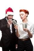 Business on christmas — Stock Photo