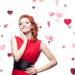 Smiling red-haired girl - Stock Photo