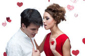 Young couple on valentine's day — Stock Photo